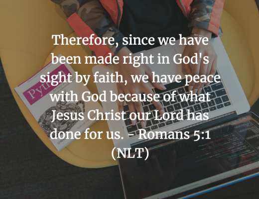 Daily Bible Verse for Teens - Romans 5:1
