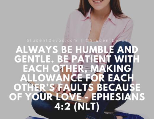 Daily Bible Verse Ephesians 4:2