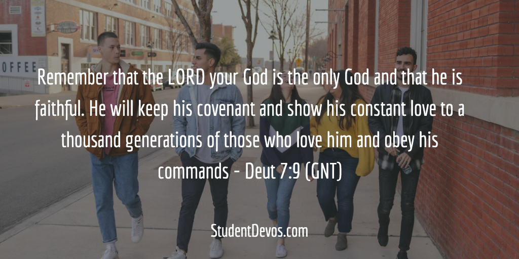 Daily Teen BIble Verse on the Faithfulness of God