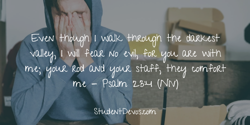 Teen Devotion stress - tough times