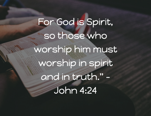 Daily Bible Verse and Devotion - Worship