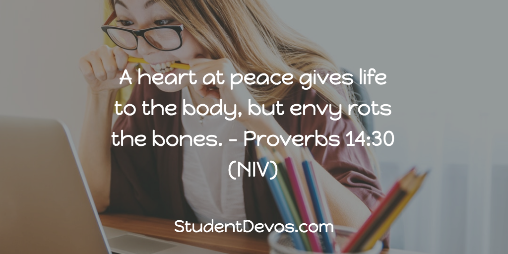 Daily Bible Verse and Devotion on Envy