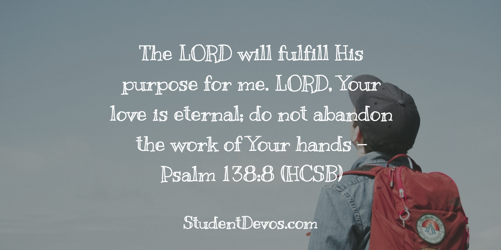 Teen Devotion on God's Will and Plan For Your Life