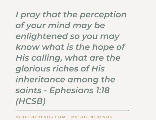 Ephesians 1:18 devotion