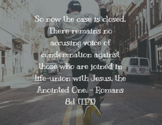 Bible verse and devotion on Romans 8:1