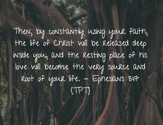 BIble Verse and Devotion Ephesians 3:17