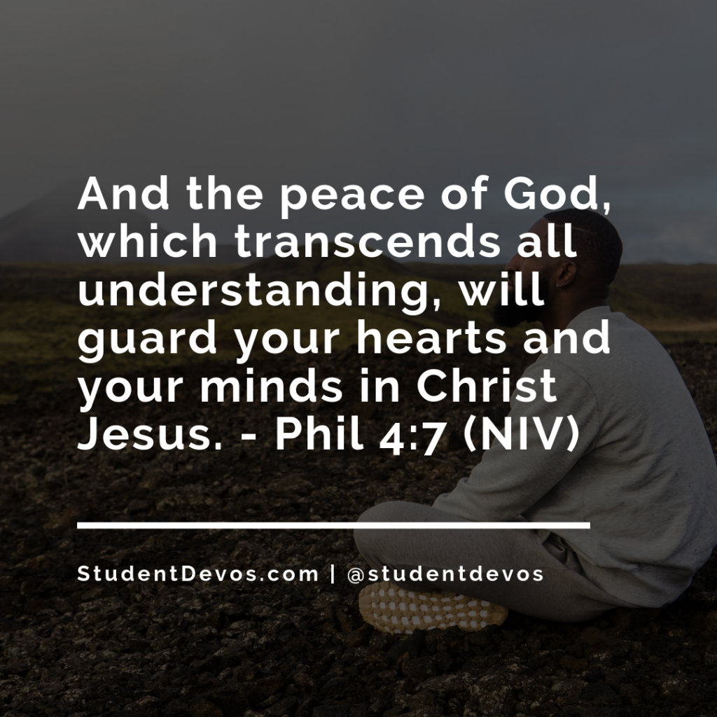 Bible Verse and Devotion on Peace for Teens