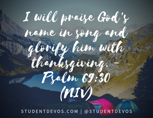Daily Bible Verse and Devotion on Thanksgiving for Teens