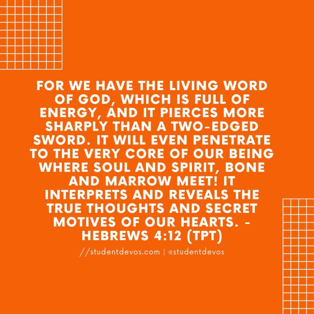 Teen Daily Bible Verse and Devotion - Hebrews 4:12