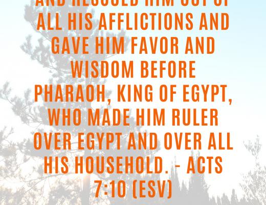 Teen Devotion on Purpose, Joseph, Favor