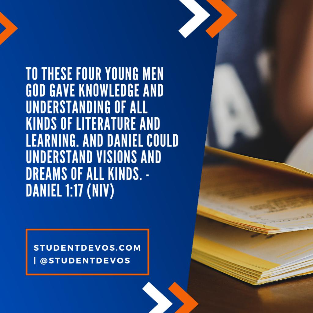 Success at School Teen Devotion - Daneil 1:17