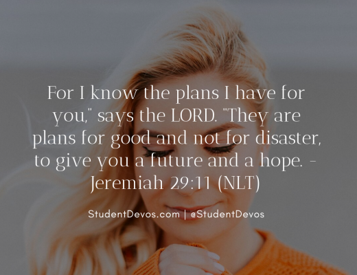 Teen Devotion and Bible Verse on Finding Purpose God's Good Plans