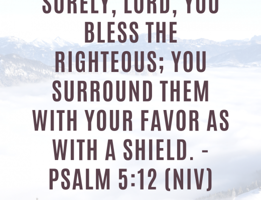 Bible Verse and Devotion on Blessing the righteous with favor