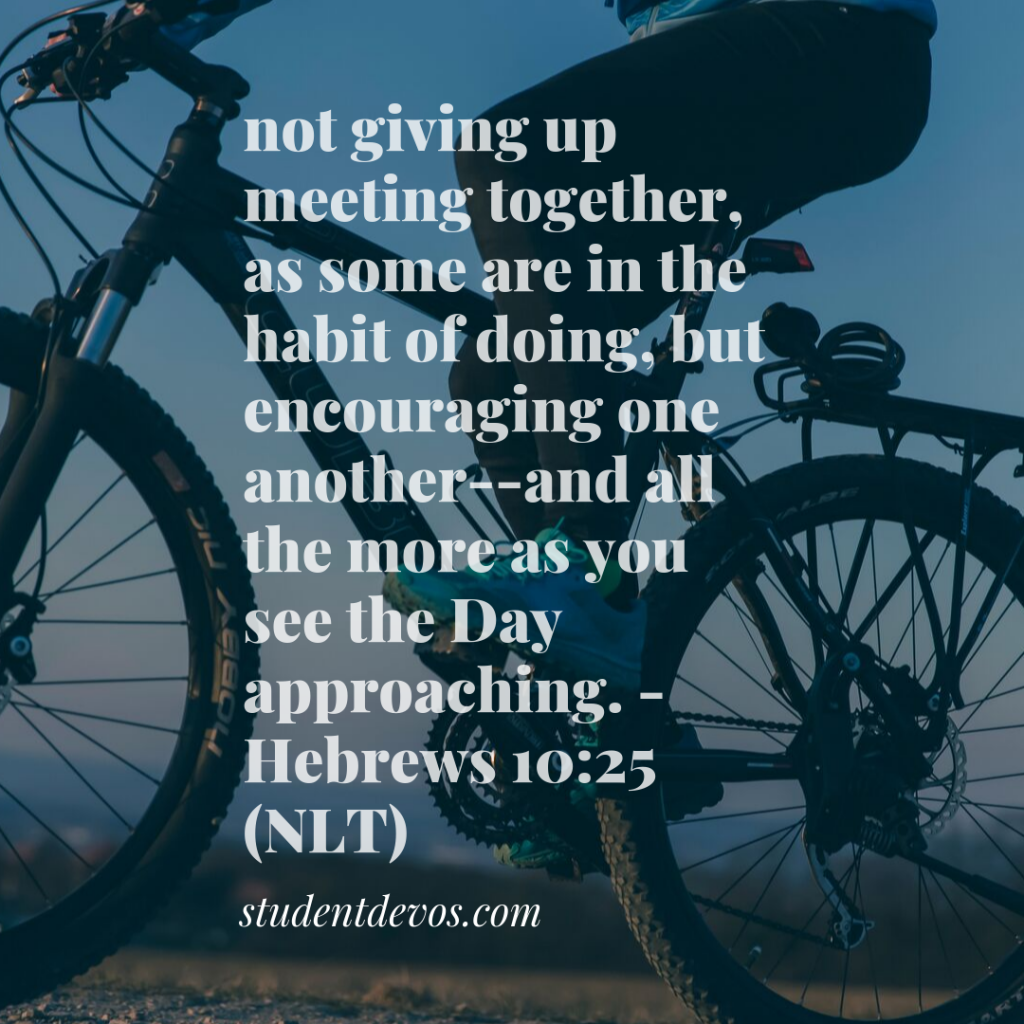 Daily Bible Verse and Devotion - Purpose is grown in community