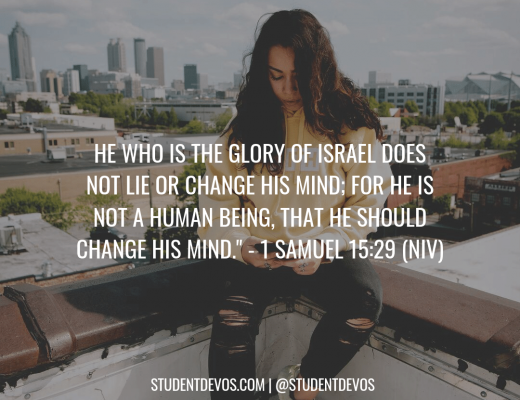 Teen Devotion and Bible Verse on The Faithfulness of God
