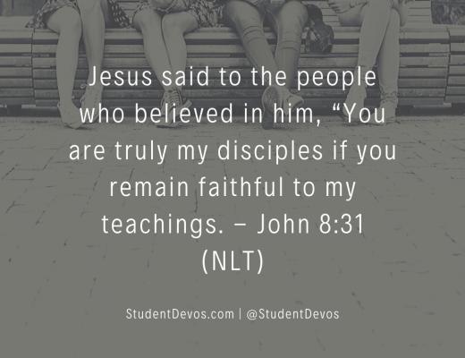 Teen Devotion on Discipleship