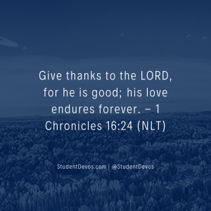 Daily Bible Verse and Devotion on Thankfulness