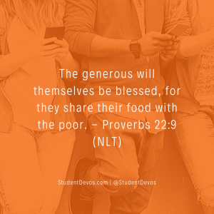 Teen Devotion on Being Generous