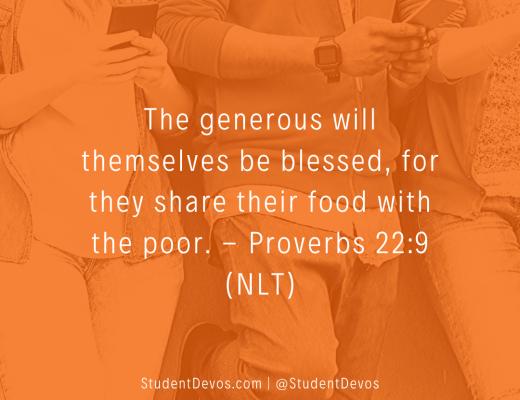 Teen Devotion on Being Generous