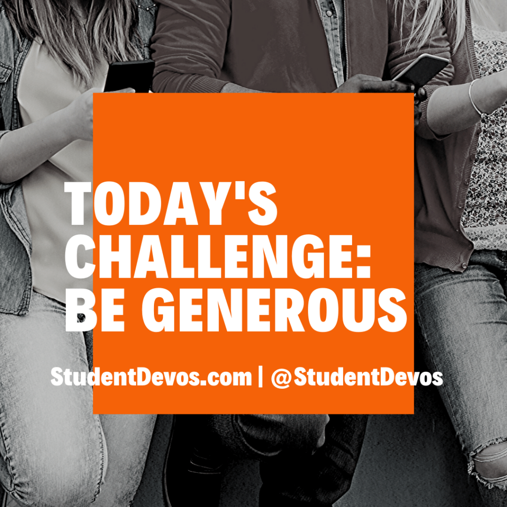 Teen Devotion on Generosity