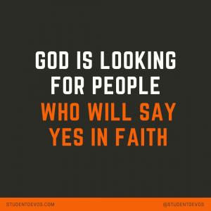 Teen Devotion About Faith