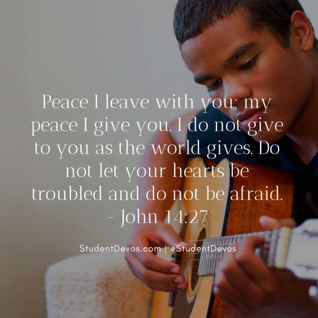 Daily Bible Verse and Devotion on Peace for Teens