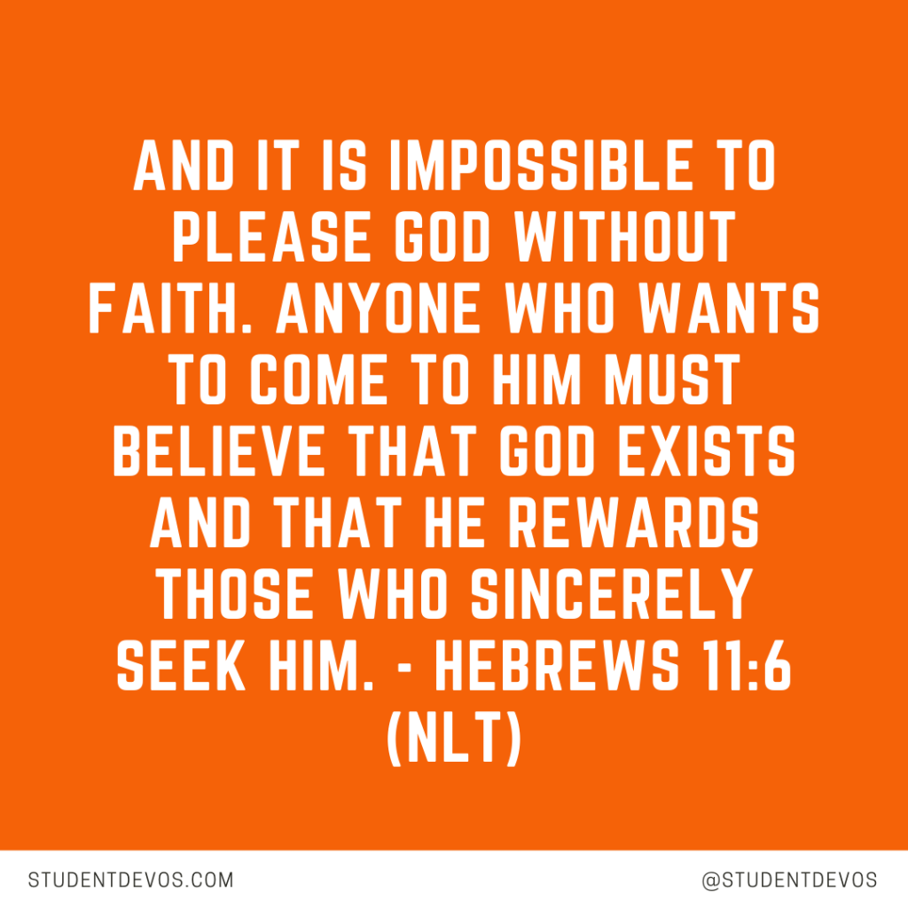 Teen Devotion and Bible Verse on Faith