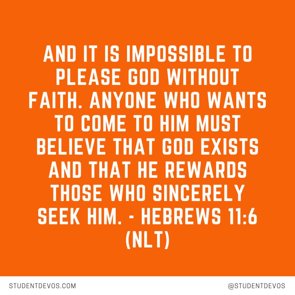 Teen Devotion and Bible Verse on Faith