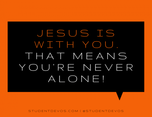 Teen Devotion and Christmas BIble Verse on Jesus being with you