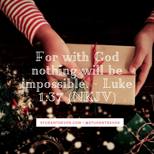 Teen Christmas Devotion on Faith