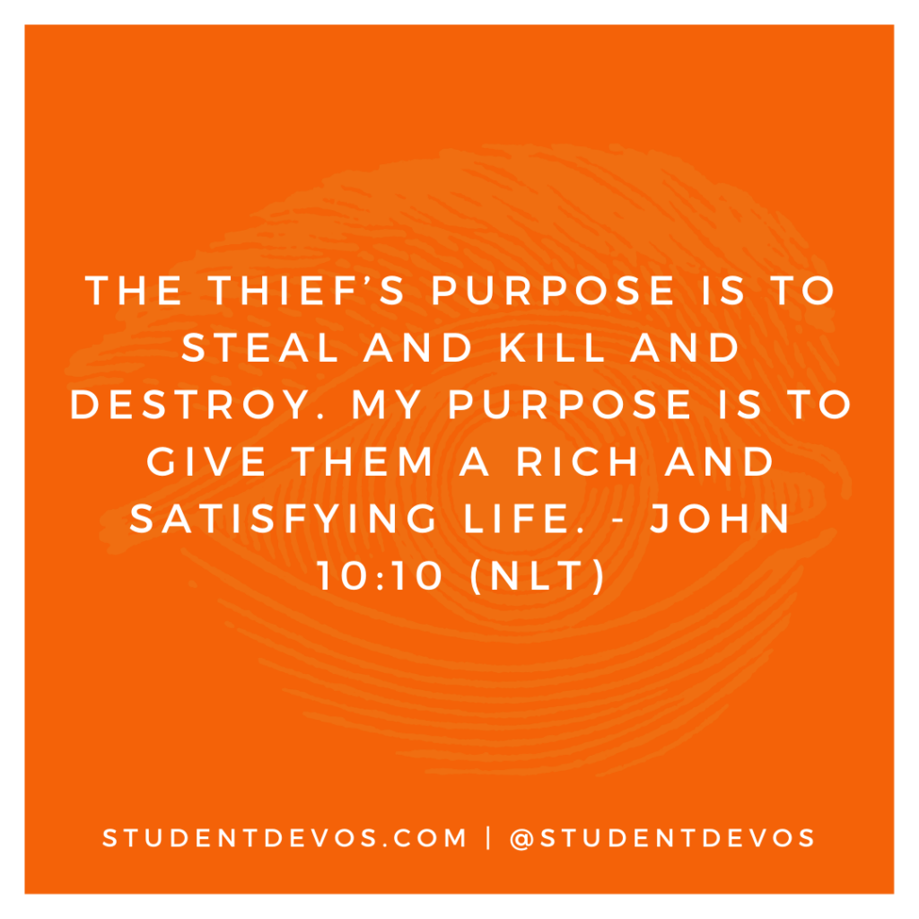 Teen Devotion and Bible Verse on John 10:10