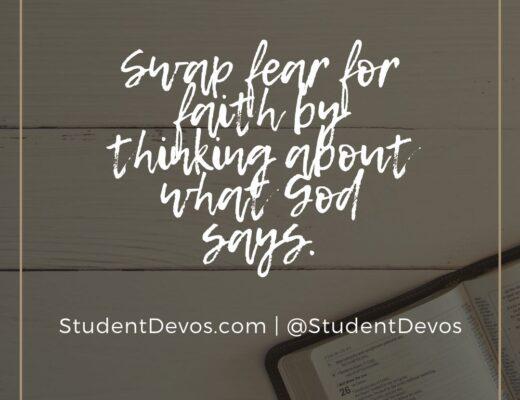 Fear for Faith by feeding on God's word