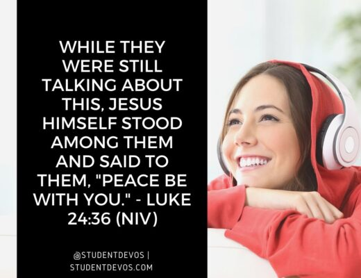 Teen Devotion and Bible Verse on Peace