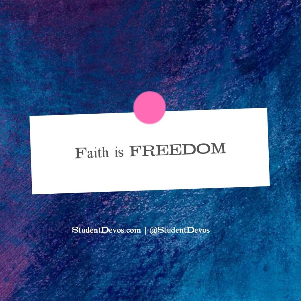 Teen Devotion on Faith and Freedom