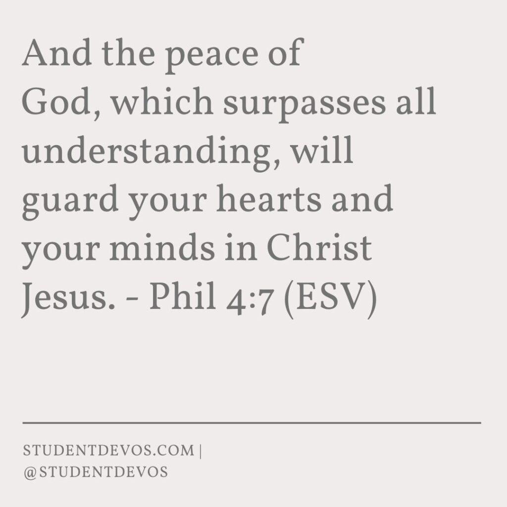 Teen Devotion on Peace