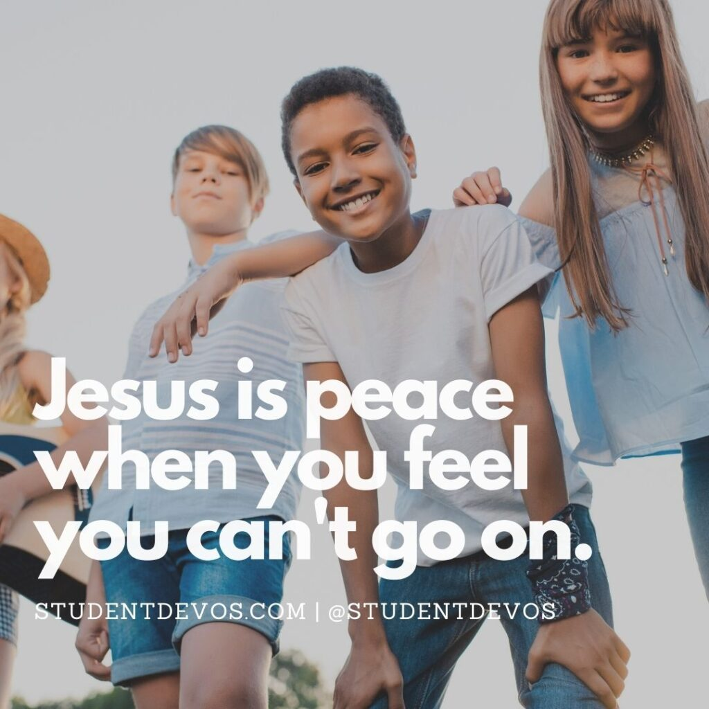 Teen Devotion on peace