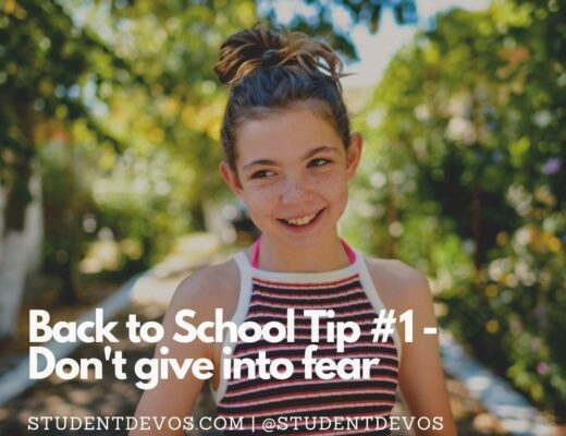 Back To School Don't Give in to fear