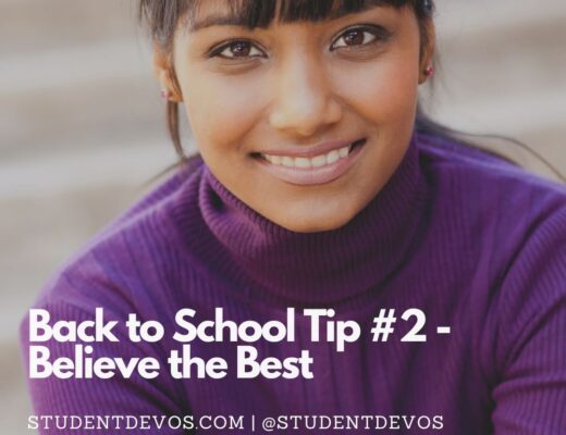 Teen with Back to school tips