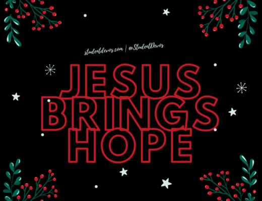 Jesus brings hope