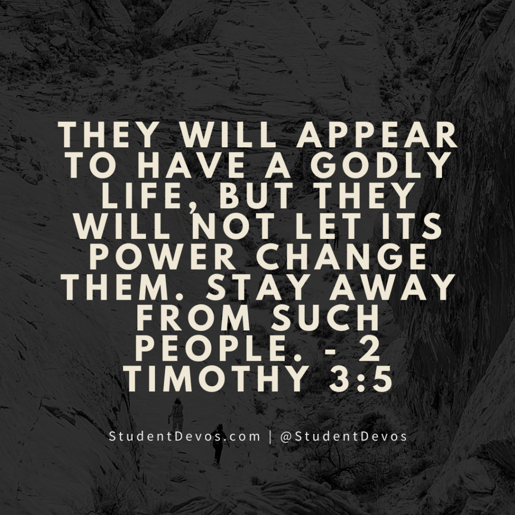 Teen Devotion 2 Timothy 3:5