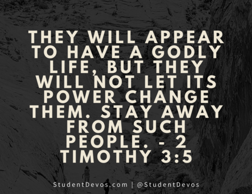 Teen Devotion 2 Timothy 3:5