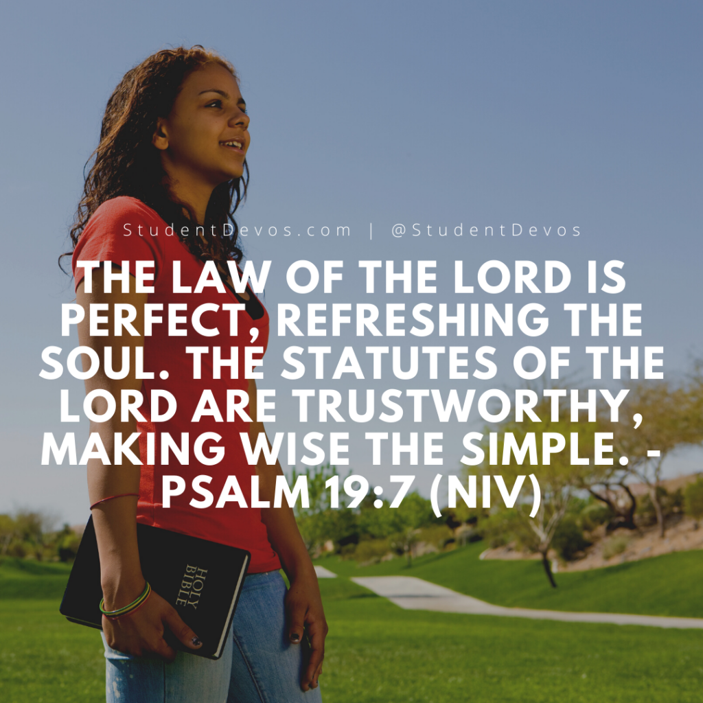 Teen Devotion on Psalm 19:7