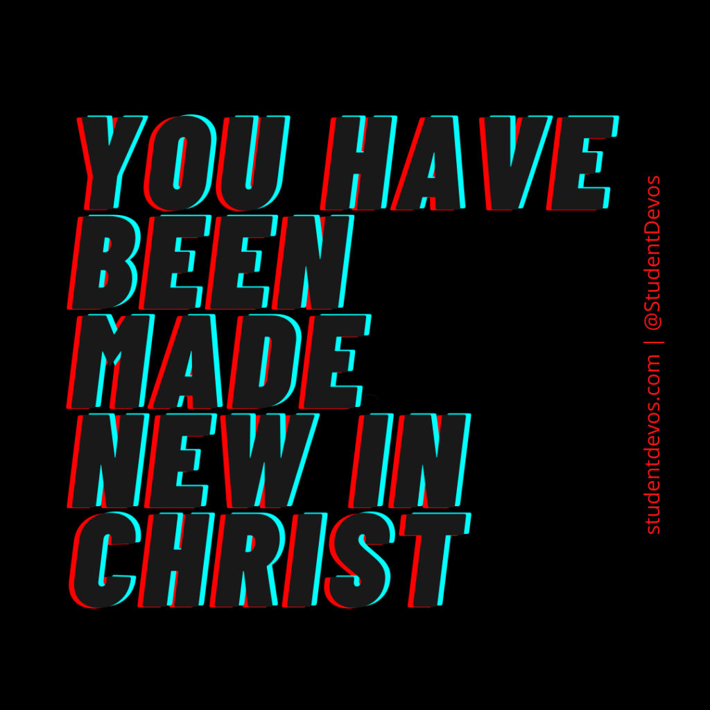 Made new in Christ