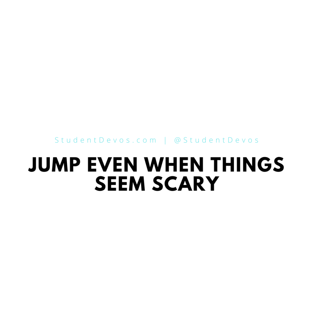 Jump even when things seem scary icon
