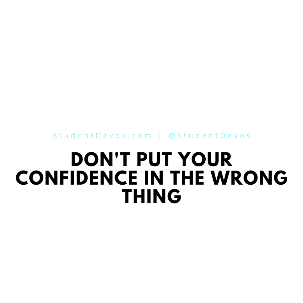 Don't Put Your Confidence in the Wrong Thing
