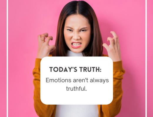 Emotions aren't always truthful