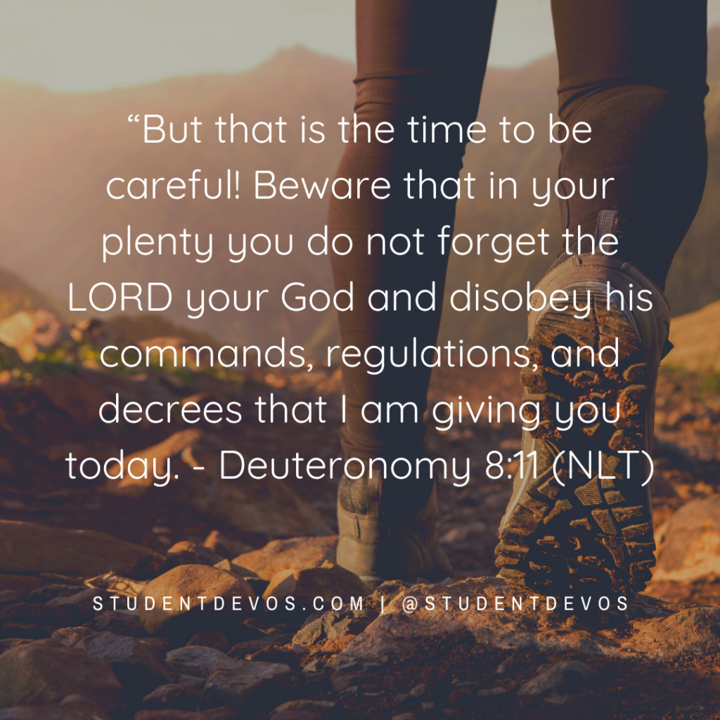 Icon for Deuteronomy 8:11 teen daily Bible Verse and Devotion