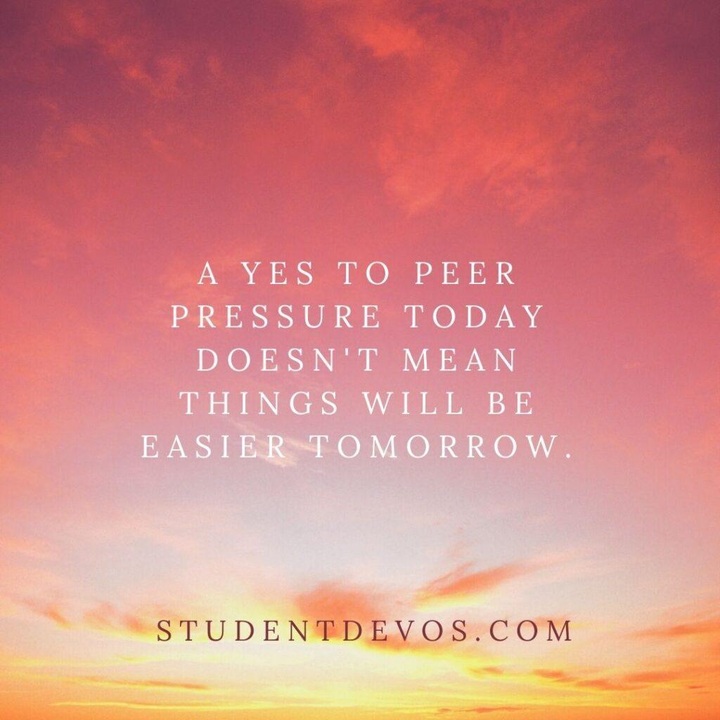 Teen Devotion on peer pressure