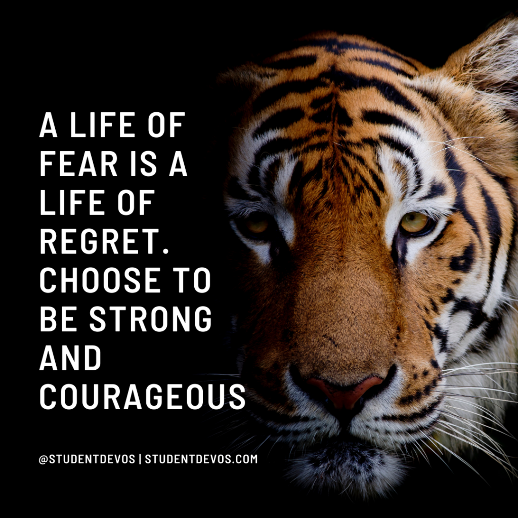 A life of fear is a life of regret