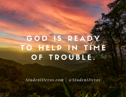 Teen devotion for times of trouble